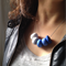 Polymer Clay Necklace Blue ombre beads on sterling silver chain.